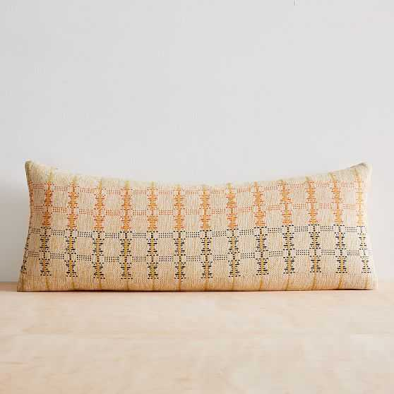 """Silk Hourglass Pillow Cover, 14""""x36"""", Multi - West Elm"""