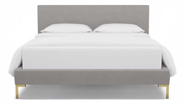 Modern Platform Bed   Queen   Platinum Velvet - The Inside
