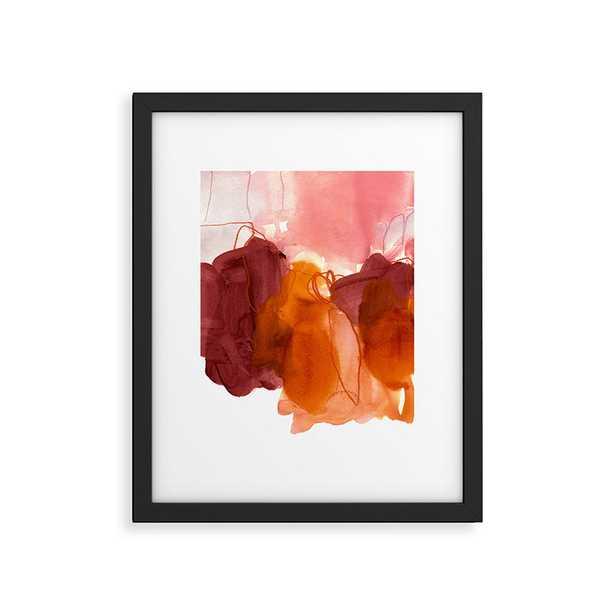 "Abstract Painting X by Iris Lehnhardt - Modern Framed Art Print Black 8"" x 10"" - Wander Print Co."