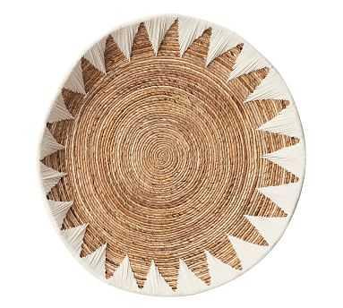 "Sunny Woven Basket Wall Art, White, 37"" - Pottery Barn"