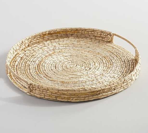 Wynne Coil Woven Abaca Tray - Light Natural - Pottery Barn