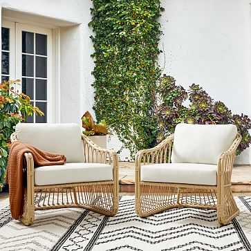 Tulum Lounge Chair, S/2, Natural Rattan - West Elm