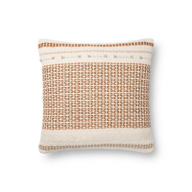 """Magnolia Home by Joanna Gaines PILLOWS P1138 SPICE / MULTI 18"""" x 18"""" Cover Only - Loma Threads"""