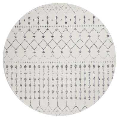 Lucienne Geometric Gray Rug - Wayfair