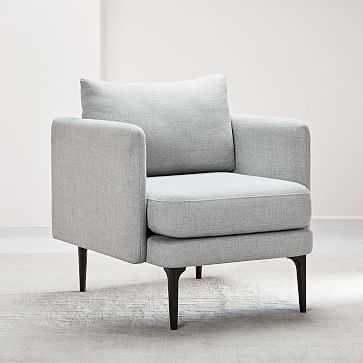 Auburn Chair, Poly, Twill, Silver, Dark Mineral - West Elm