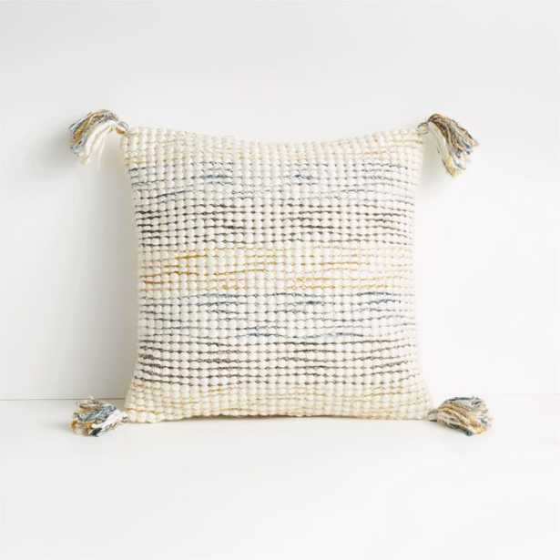 """Oasis 18"""" Multicolor Pillow with Feather-Down Insert - Crate and Barrel"""