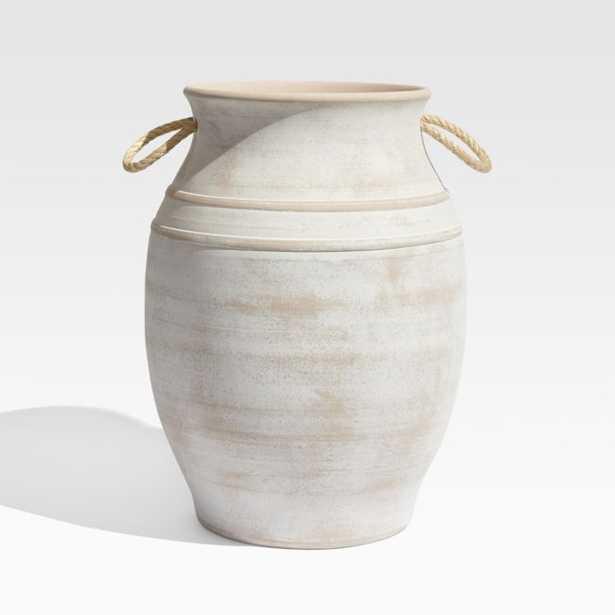 Elvy Large Ceramic Planter - Crate and Barrel
