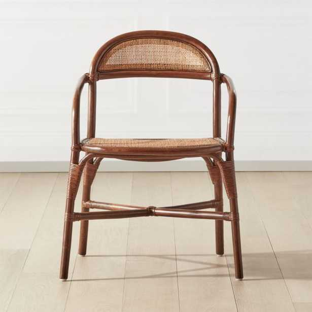 Valzer Natural Rattan Dining Chair - CB2