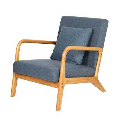"""Mid-Century Modern Accent Chairs, 25.6"""" X 30"""" X 30"""",Fabric Reading Armchair,Accent Chairs For Living Room Bedroom,Easy Assembly - Wayfair"""
