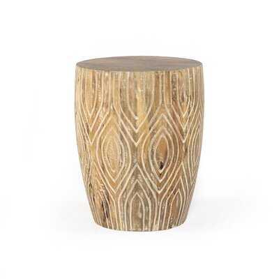 Neva Drum End Table - Wayfair