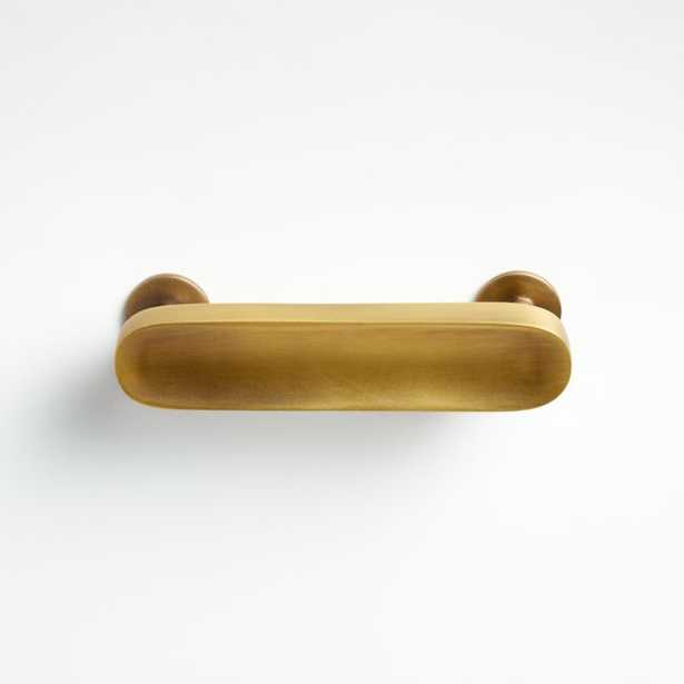 """Oval 3"""" Antique Brass Handle - Crate and Barrel"""