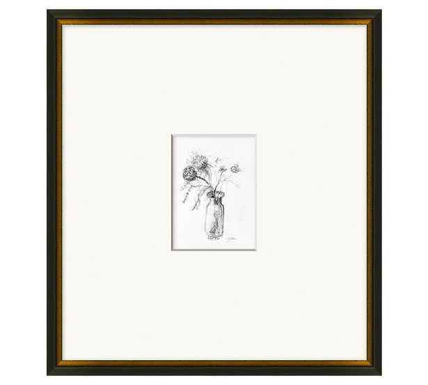 "Mums In Vase Framed Print, 21.5"" x 23.5"" - Pottery Barn"