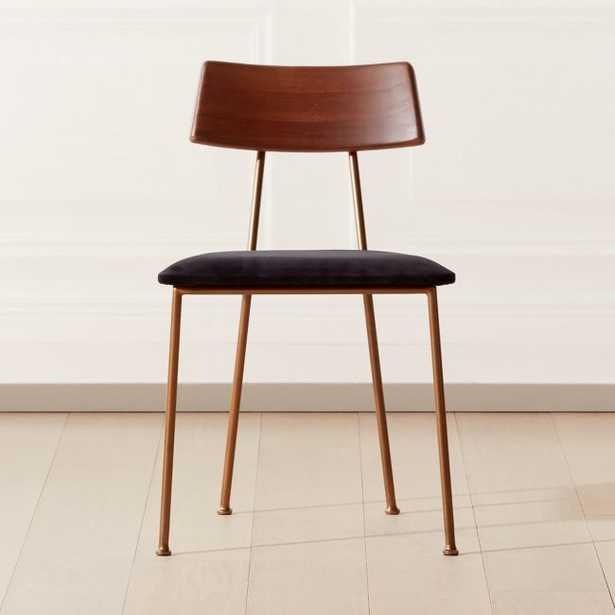 Neil Black Velvet Dining Chair - CB2