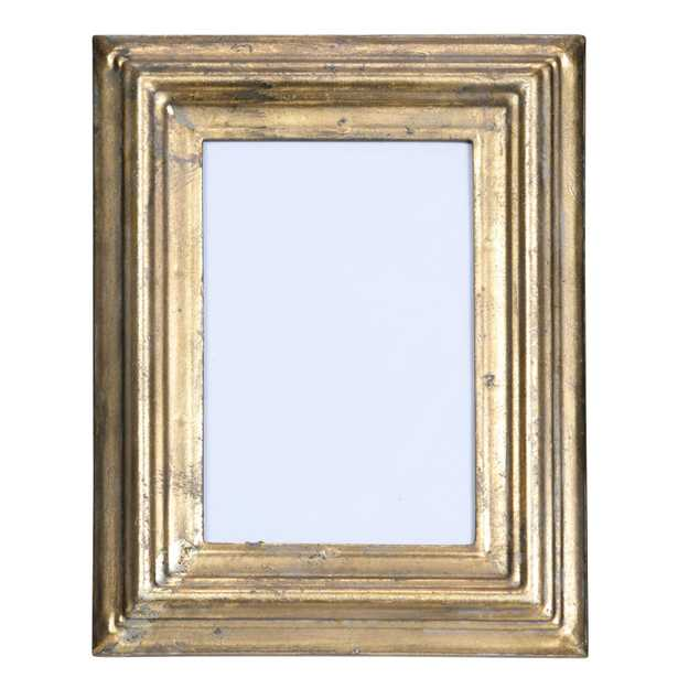 """Antiqued Gold Metal Picture Frame (Holds a 4"""" x 6"""") - Nomad Home"""