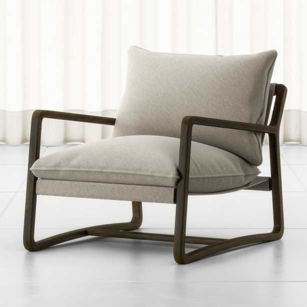 """Polly Ivory Accent Chair 30""""Wx37.5""""Dx34""""H - Crate and Barrel"""