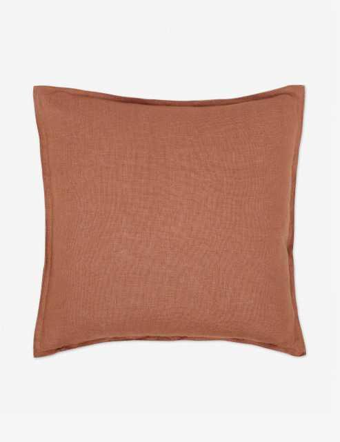 "20"" Arlo Linen Pillow, Rust - Lulu and Georgia"