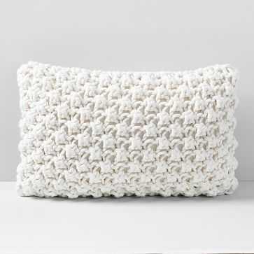 """Bobble Knit Pillow Case, Natural, 12""""x21"""" - West Elm"""