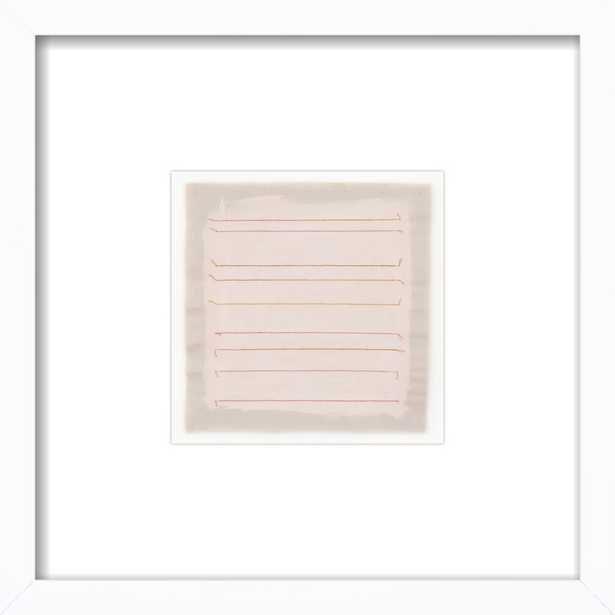 Pale Pink with Dusty Rose Stripes by Emily Keating Snyder for Artfully Walls - Artfully Walls