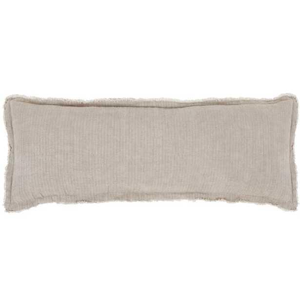 Pom Pom At Home Laurel Linen Lumbar Pillow Color: Pale Olive - Perigold