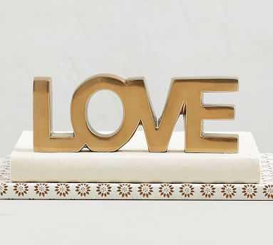 Word Object, Brass - Love - Pottery Barn
