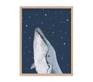 Minted(R) Starry Sky Whale Wall Art by Cass Loh; 18x24, Natural - Pottery Barn Kids