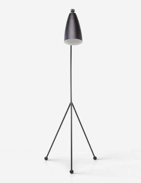 Shany Floor Lamp, Black - Lulu and Georgia