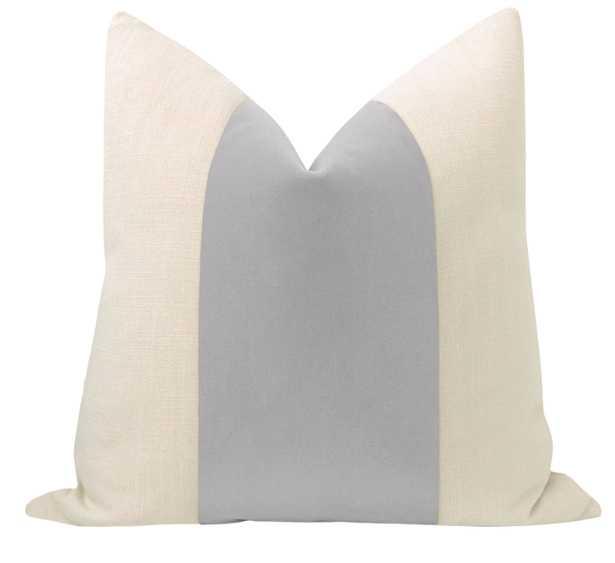 """PANEL :: Mohair Velvet // Dove Grey - 20"""" X 20"""" - Little Design Company"""