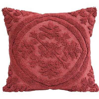 Kitterman Square Woven Looped Cotton Throw Pillow - AllModern
