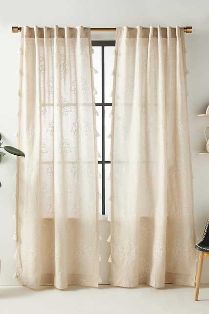 Ren Curtain By Anthropologie in Beige Size 50X84 - Anthropologie