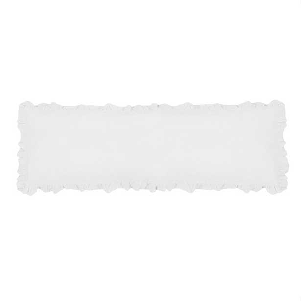 Pom Pom At Home Charlie Linen Feather Lumbar Pillow Color: White - Perigold