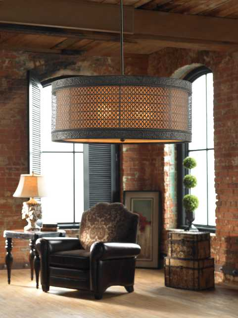New Orleans 3 Light Drum Pendant - Hudsonhill Foundry