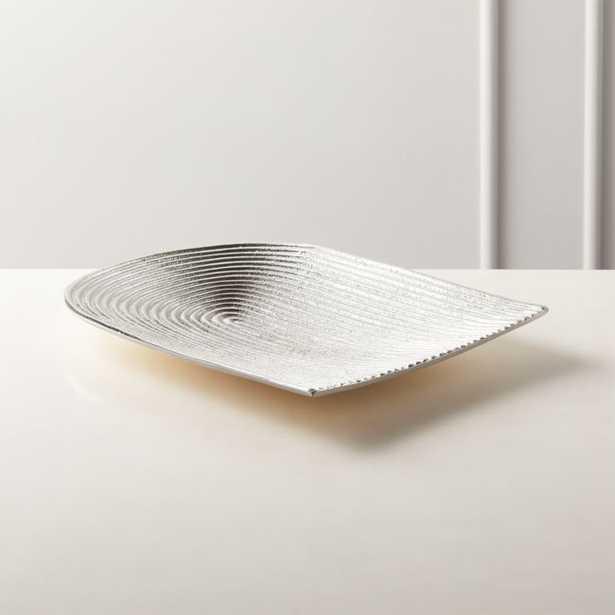 Beam Silver Cast Aluminum Serving Platter - CB2