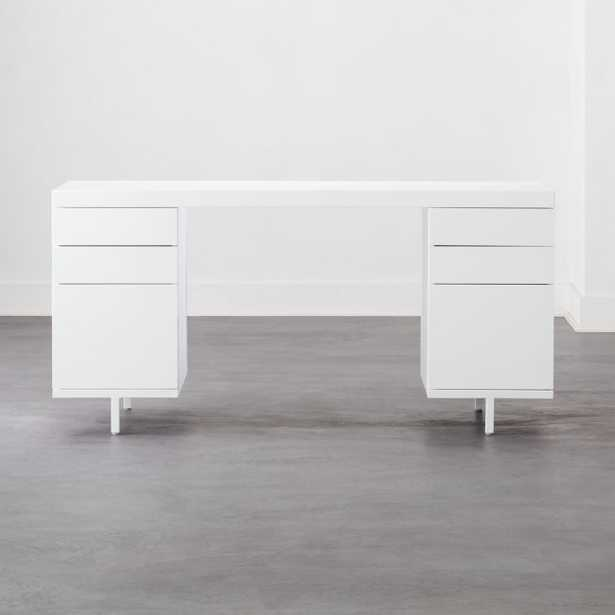 Stairway Modular Desk with 2 Drawers White - CB2