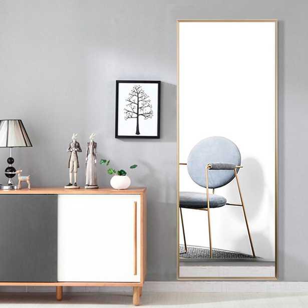 Modern Metal Large Full-length Floor Mirror Leaning or Hanging In Living Room - Home Depot