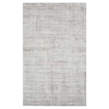 Solid Viscose Rug, 7'x10', Light Gray - Pottery Barn Teen