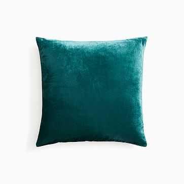 """Lush Velvet Pillow Cover, 18""""x18"""", Botanical Garden - West Elm"""