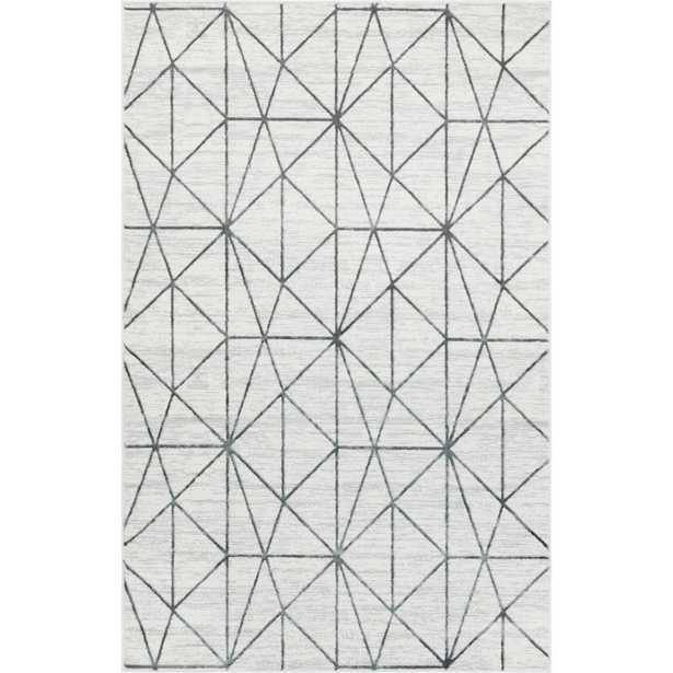 Unique Loom Matrix Trellis Geometric White 5 ft. x 8 ft. Area Rug, Gray - Home Depot