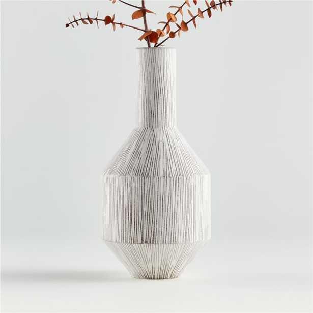 Lyman Scratched Vase - Crate and Barrel