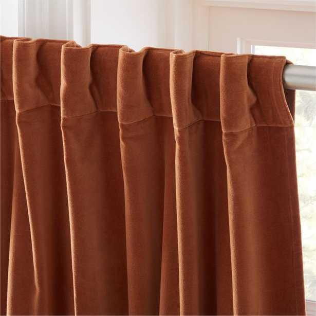 """Velvet Copper Curtain Panel 48""""x96"""" - CB2"""