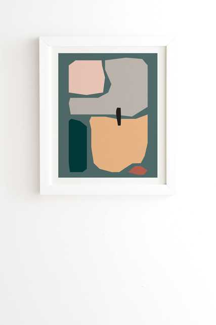 "Shape Study 20 by mpgmb - Framed Wall Art Basic White 20"" x 20"" - Wander Print Co."