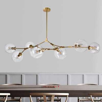 Dingman 7 - Light Sputnik Modern Linear Chandelier - Wayfair