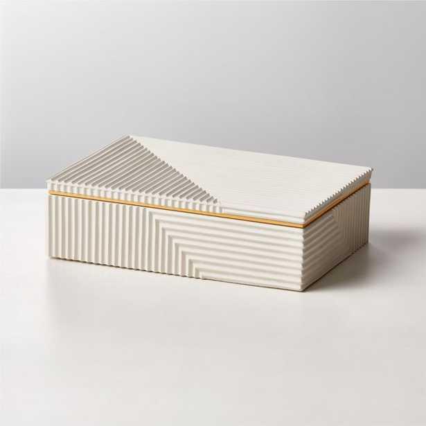 Chelsea White Concrete Box Large - CB2