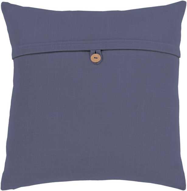 "Perine Pillow, 20""x 20"", Navy - Cove Goods"