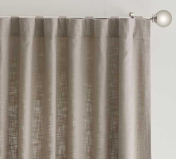 "Seaton Textured Cotton Rod Pocket Curtain, 50 x 96"", Dove - Pottery Barn"