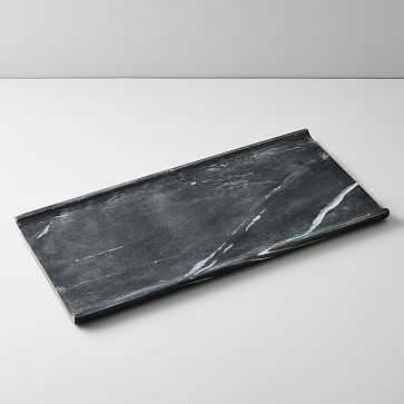 Pure Foundation Marble Tray, Large, Black - West Elm