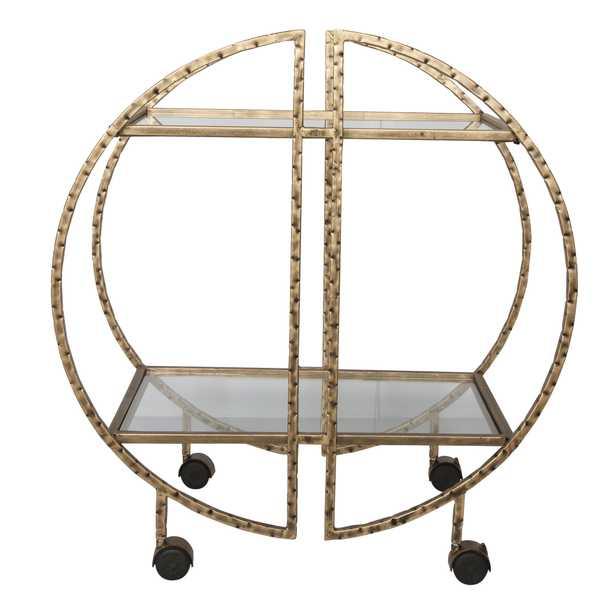 Zelina Gold Bar Cart - Hudsonhill Foundry