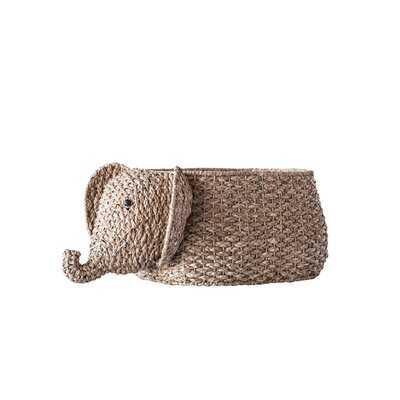 Bankuan Elephant Shaped Wicker/Rattan Basket - Wayfair