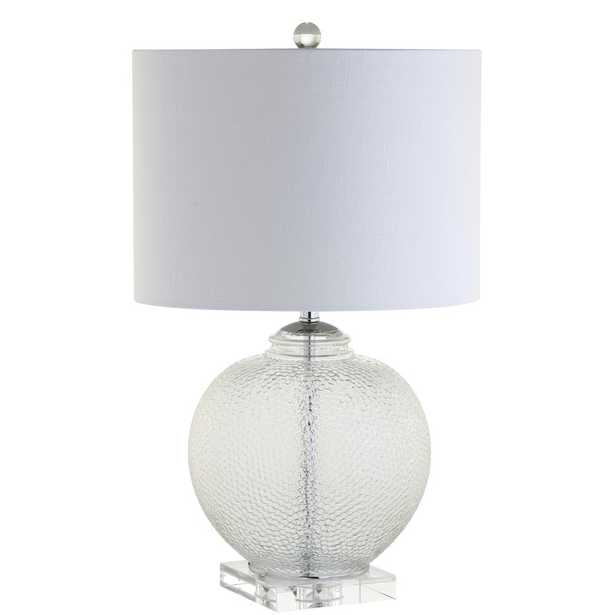 JONATHAN Y Avery 24 in. Clear Glass/Crystal Table Lamp - Home Depot