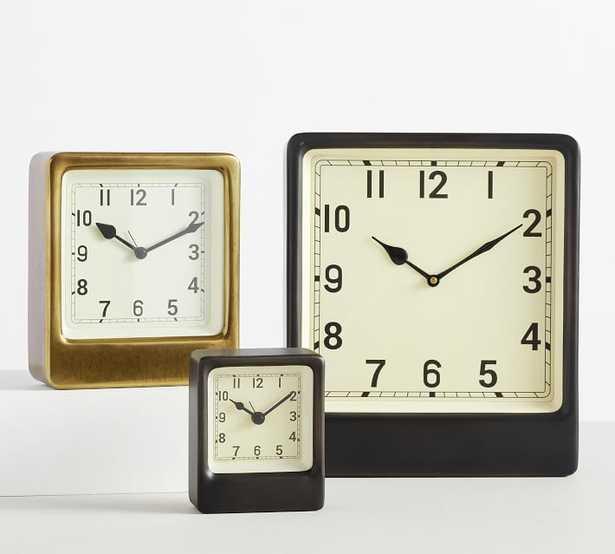 Anton Desktop Clock, Large, Black - Pottery Barn