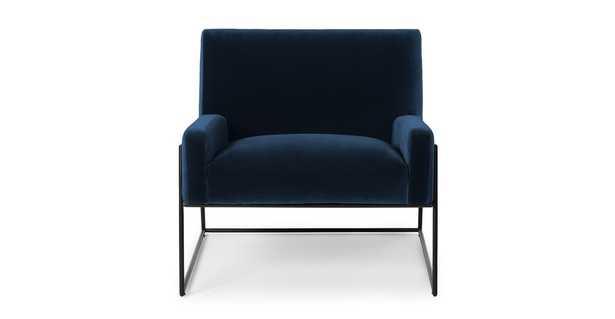 Regis Cascadia Blue Lounge Chair - Article